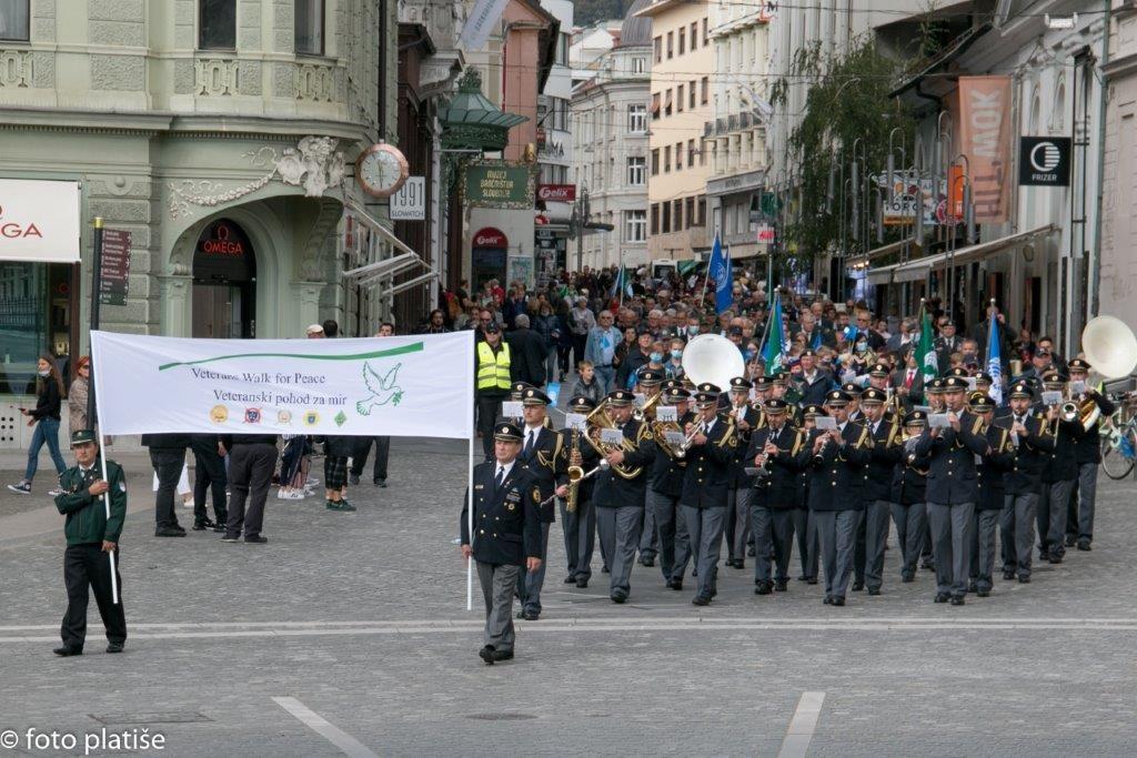 Veteranski pohod za mir 2021 v Ljubljani
