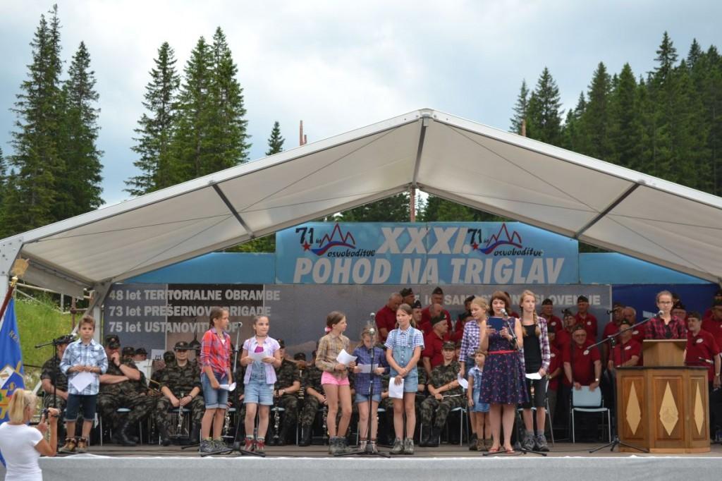 Zaključna slovesnost 31. pohoda veteranov na Triglav