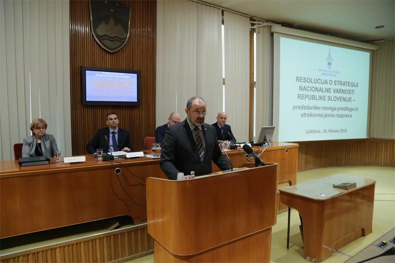 Predstavitev predloga nove resolucije o strategiji nacionalne varnosti RS