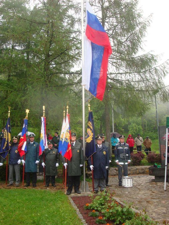 Slovesnost ob Dnevu veteranov vojne 1991