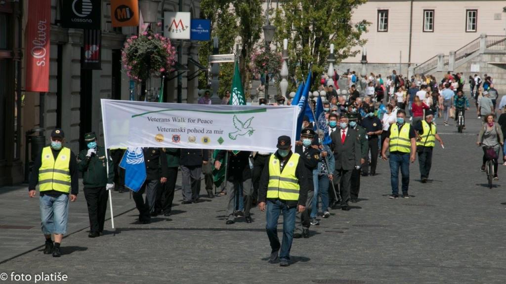 Veteranski pohod za mir 2020 v Ljubljani